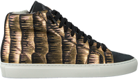 P448 Baskets montantes STAR WOMAN en noir  - medium