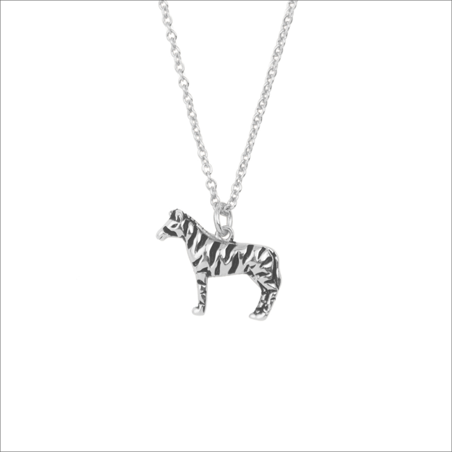 Zilveren ATLITW STUDIO Ketting SOUVENIR NECKLACE ZEBRA - large