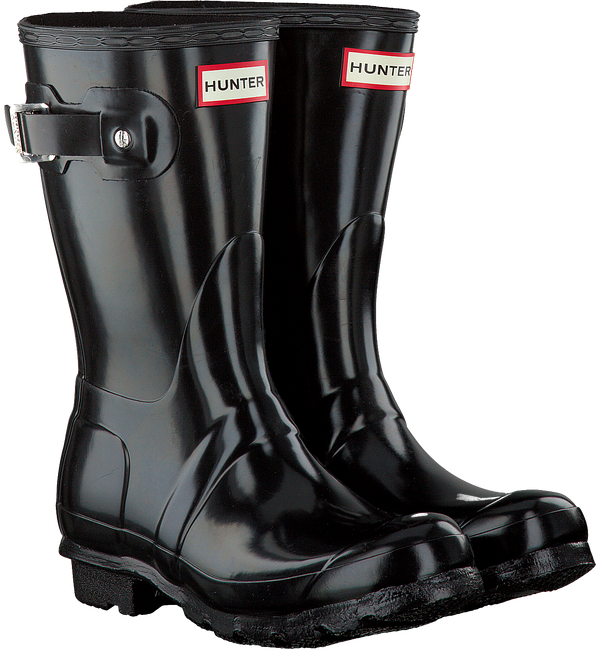 HUNTER Bottes en caoutchouc WOMENS ORIGINAL SHORT en noir - large