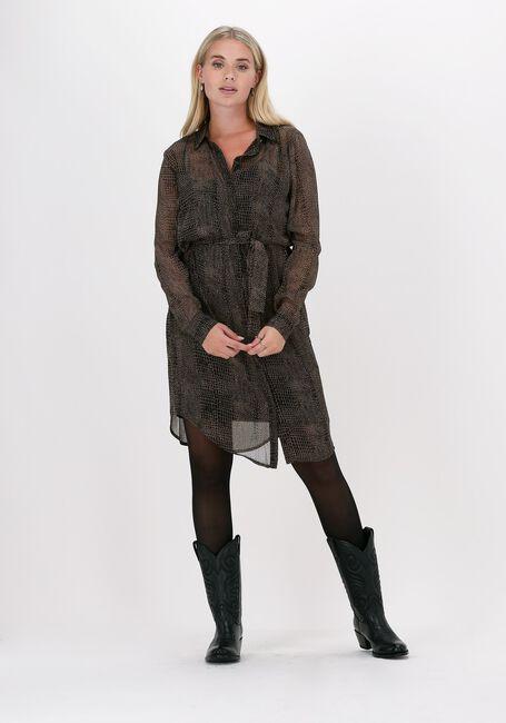 Zwarte FREEBIRD Midi jurk AMINA - large