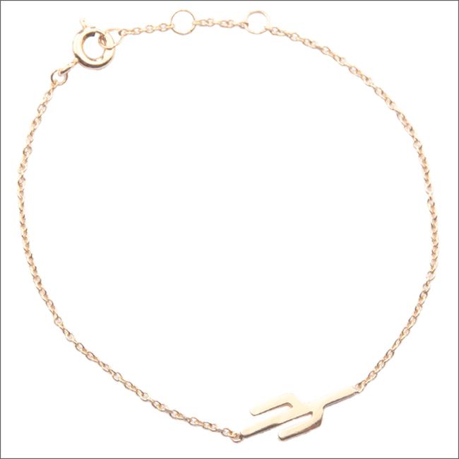 ALLTHELUCKINTHEWORLD Bracelet SOUVENIR BRACELET CACTUS en or - large