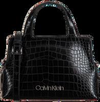 Zwarte CALVIN KLEIN Handtas NEAT CROC TOTE MINI  - medium