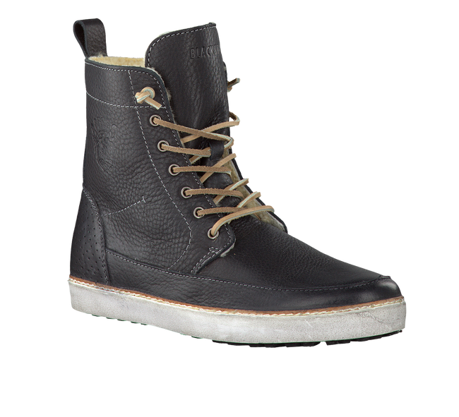 Zwarte BLACKSTONE Enkelboots AM32  - large