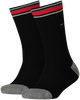 TOMMY HILFIGER Chaussettes TH KIDS ICONIC SPORTS SOCK 2P en noir - small