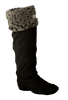 HUNTER Chaussettes GRIZZLY CUFF WELLY SOCK en gris - small