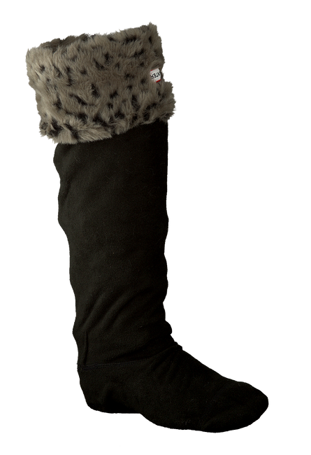 Grijze HUNTER Sokken GRIZZLY CUFF WELLY SOCK - large