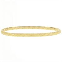 Gouden MY JEWELLERY Armband BANGLE TOUWPATROON - medium