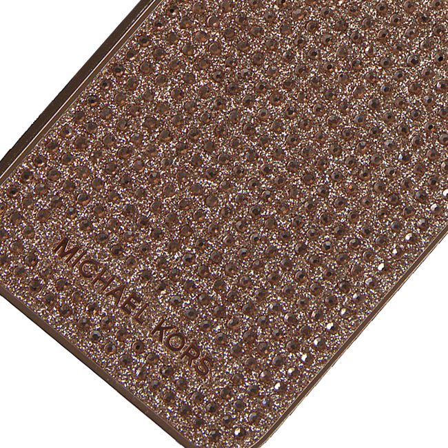 MICHAEL KORS Mobile-tablettehousse PHN COVER 7 LETTERS en beige - large