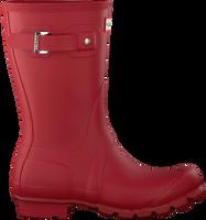 Rode HUNTER Regenlaarzen WOMENS ORIGINAL SHORT - medium