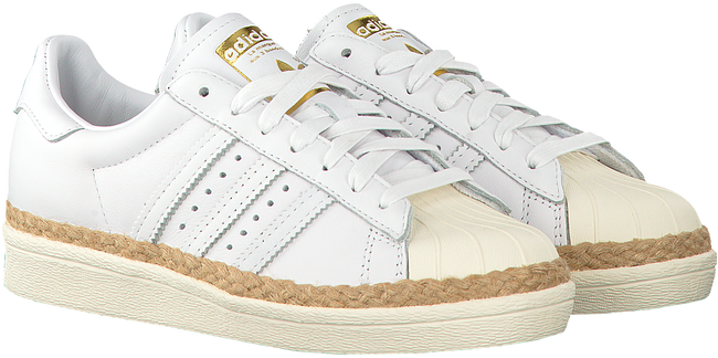 witte adidas sneakers superstar 80s dames