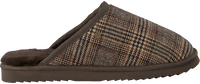 Bruine WARMBAT Pantoffels CLASSIC CHECK  - medium