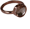 B.LOVED Anneau ROUND QUARTZ RING en or - small