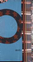 Blauwe LIU JO Sjaal STOLA MIX PRINT - medium