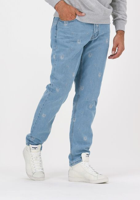 Blauwe BLS HAFNIA Straight leg jeans NEW ALL OVER JEANS - large