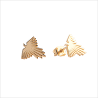 Gouden ATLITW STUDIO Oorbellen PARADE EARRINGS EAGLE - medium