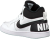 NIKE Baskets COURT BOROUGH MID (KIDS) en blanc - small