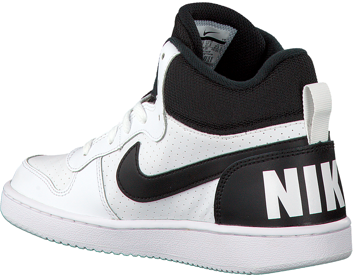 NIKE Baskets COURT BOROUGH MID (KIDS) en blanc