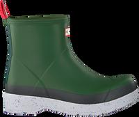 Groene HUNTER Regenlaarzen MENS PLAY SHORT SPECKLE SOLE W  - medium