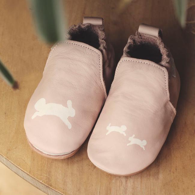 BOUMY Chaussures bébé CHASE en rose - large