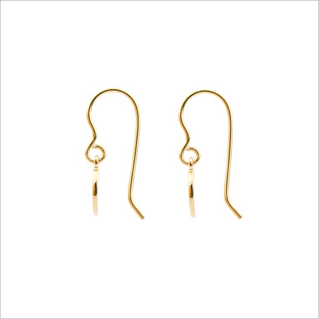 ALLTHELUCKINTHEWORLD Boucles d'oreilles CHARACTER EARRINGS LETTER en or - large
