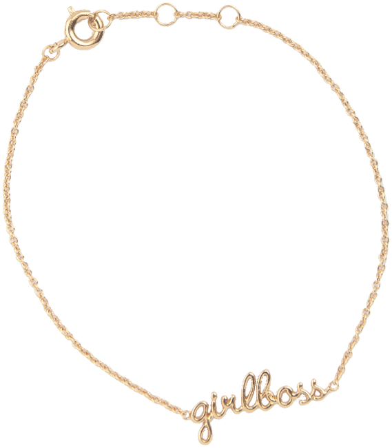 ALLTHELUCKINTHEWORLD Bracelet URBAN BRACELET GIRLBOSS en or - large