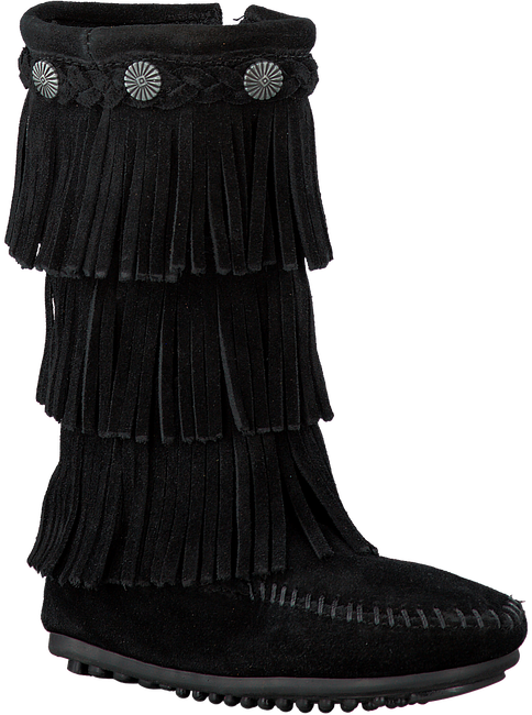 MINNETONKA Bottes hautes 2659 en noir - large