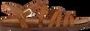 Bruine FRED DE LA BRETONIERE Sandalen 170010105 FRS0655  - small