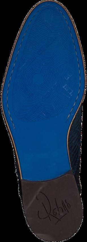 REHAB Bottines à lacets SALVADOR ZIG ZAG en bleu - larger