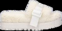 Witte UGG Pantoffels W FLUFFITA  - medium