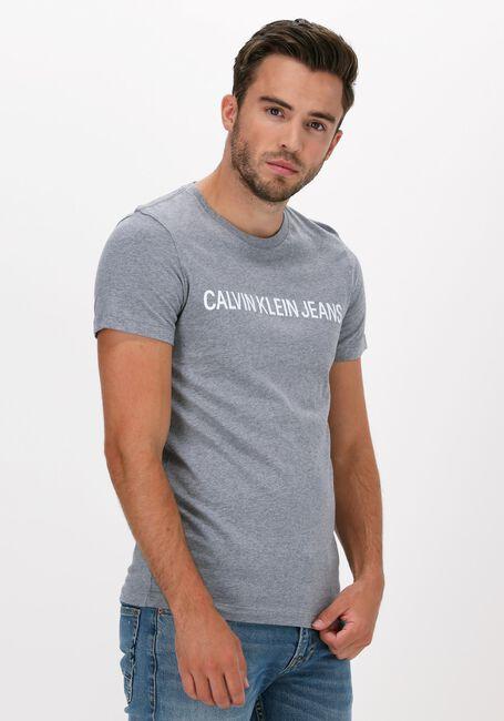 CALVIN KLEIN T-shirt INSTITUTIONAL L en gris  - large