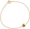 ALLTHELUCKINTHEWORLD Bracelet CHARACTER BRACELET LETTER GOLD en or - small