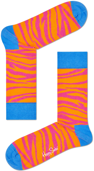 Roze HAPPY SOCKS Sokken ZEBRA - large
