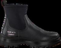 Zwarte WOMSH Enkelboots VEGAN LOOP  - medium