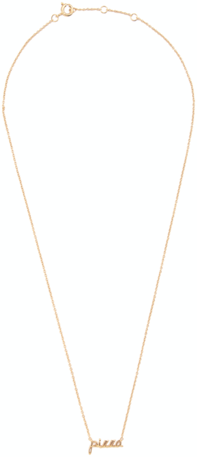 ALLTHELUCKINTHEWORLD Collier URBAN NECKLACE PIZZA en or - large