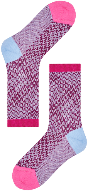 HAPPY SOCKS Chaussettes HYSTERIA ROSA CREW SOCK en blanc  - large