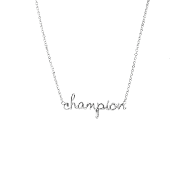 ALLTHELUCKINTHEWORLD Collier URBAN NECKLACE CHAMPION en argent - large