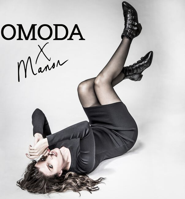 OMODAXMANON Bottines AD245 en noir - large