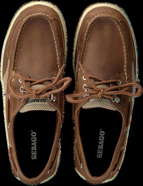 SEBAGO Chaussures à lacets CLOVEHITCH en cognac  - large