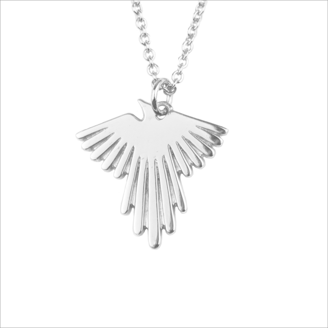 ALLTHELUCKINTHEWORLD Collier SOUVENIR NECKLACE EAGLE en argent - large