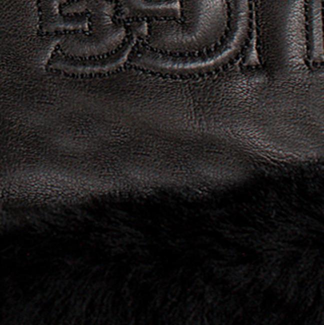 UGG Gants CLASSIC LEATHER LOGO GLOVE en noir - large