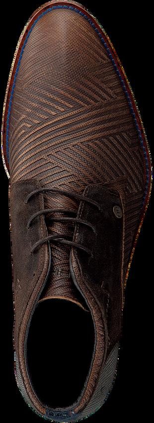 REHAB Bottines à lacets SALVADOR ZIG ZAG en marron - larger