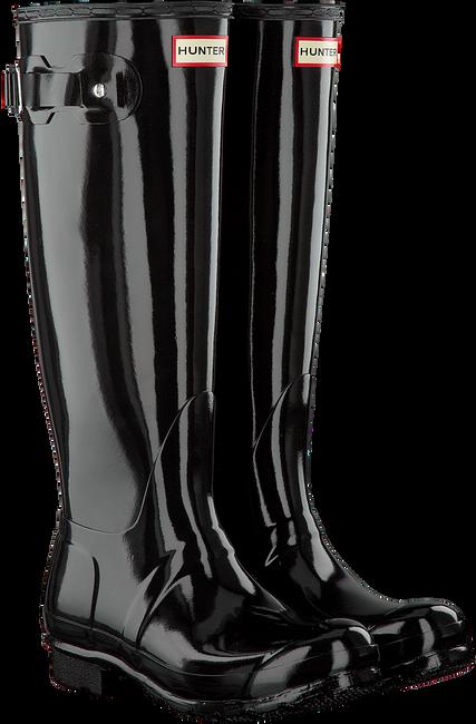 HUNTER Bottes en caoutchouc WOMENS ORIGINAL TALL en noir - large