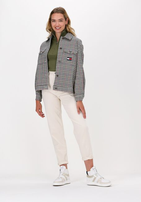 Beige TOMMY JEANS Blouse TJW MINI CHECK OVERSHIRT - large