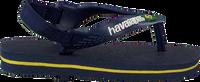 Blauwe HAVAIANAS Slippers BABY BRASIL LOGO II  - medium