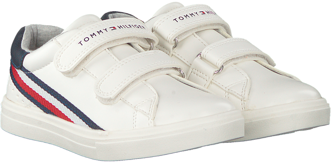 Witte TOMMY HILFIGER Lage sneakers LOW CUT VELCRO SNEAKER  - large