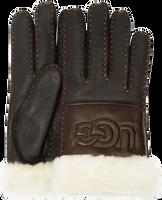 Zwarte UGG Handschoenen SHEEPSKIN LOGO GLOVE - medium