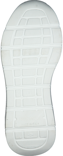 WOMSH Baskets basses WAVE WHITE SHINY en blanc  - large