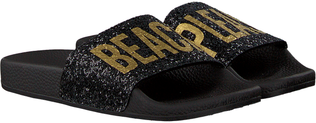 Zwarte THE WHITE BRAND Slippers GLITTER BEACH KIDS - large