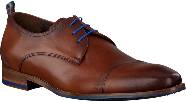 Cognac FLORIS VAN BOMMEL Nette schoenen 18006 - large