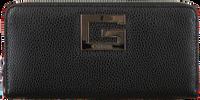 Zwarte GUESS Portemonnee BRIGHTSIDE  LRG ZIP AROUND  - medium